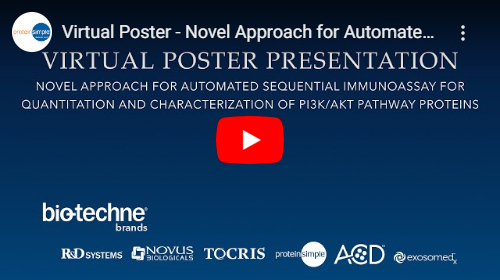Virtual Poster Presentation on the Novel Approach for Automated Sequential Immunoassay for Quantitation and Characterization of PI3K/AKT Pathway Proteins